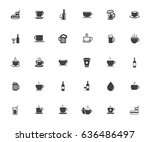 drink icons | Shutterstock .eps vector #636486497