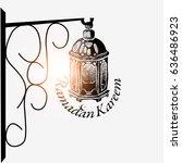 vector illustration for ramadan ... | Shutterstock .eps vector #636486923