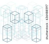 abstract line geometric shape... | Shutterstock .eps vector #636488597