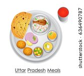 vector illustration of plate... | Shutterstock .eps vector #636490787