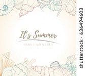 summer paradise holiday marine... | Shutterstock .eps vector #636494603