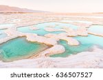 view of dead sea coastline.... | Shutterstock . vector #636507527