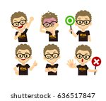 vector set of programmer... | Shutterstock .eps vector #636517847