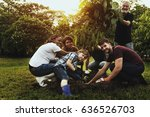 group of diverse people... | Shutterstock . vector #636526703