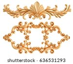 gold ornament on a white... | Shutterstock . vector #636531293