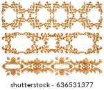 gold ornament on a white... | Shutterstock . vector #636531377