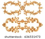 gold ornament on a white... | Shutterstock . vector #636531473