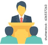 presentation vector icon | Shutterstock .eps vector #636537263