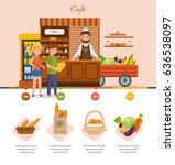 infographic elements of cafe.... | Shutterstock .eps vector #636538097