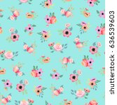seamless pattern with... | Shutterstock .eps vector #636539603