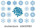 abstract snowflakes   design... | Shutterstock .eps vector #63653983