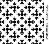 raster monochrome geometrical... | Shutterstock . vector #636543653