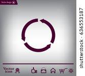 circular arrows vector icon | Shutterstock .eps vector #636553187