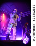 Small photo of Potsdam, Brandenburg / Germany October 2, 2015: Lord Of The Lost, gothic rock band from Hamburg (Germany), giving a live concert in Potsdam (Germany) Waschhaus Club in 2015.