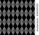 seamless vector pattern. black... | Shutterstock .eps vector #636569423