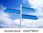 3d rendering blank blue road... | Shutterstock . vector #636578867
