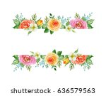 painted watercolor composition... | Shutterstock . vector #636579563