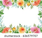 painted watercolor composition... | Shutterstock . vector #636579707