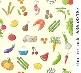 vector seamless pattern on the... | Shutterstock .eps vector #636583187
