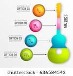 music infographic template with ... | Shutterstock .eps vector #636584543