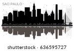 sao paulo city skyline black... | Shutterstock .eps vector #636595727