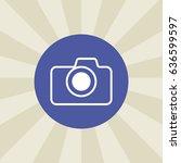 camera icon. sign design....