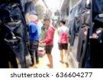blurry image  flea market ... | Shutterstock . vector #636604277