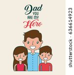 fathers day related icons and... | Shutterstock .eps vector #636614923