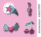 girly icon image  | Shutterstock .eps vector #636619987