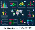 vector business infographic... | Shutterstock .eps vector #636621277