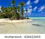 beautiful beach and lagoon at... | Shutterstock . vector #636622603