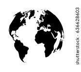 globe earth vector eps10 icon   Shutterstock .eps vector #636628603