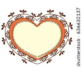 heart with images inside on a... | Shutterstock .eps vector #636632137