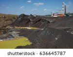 chimneys of copper smelting...   Shutterstock . vector #636645787