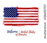 symbol  poster  banner usa.... | Shutterstock .eps vector #636650707