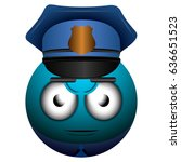 isolated policeman emote on a...