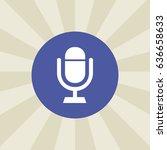 microphone icon. sign design....