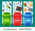 recycling garbage elements... | Shutterstock .eps vector #636670963