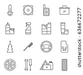 set of car accessories icons | Shutterstock .eps vector #636672277