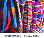display of traditional... | Shutterstock . vector #636675853