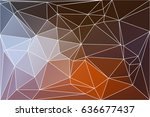 brown orange white abstract low ... | Shutterstock .eps vector #636677437