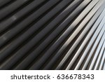 abstract metal design. steel... | Shutterstock . vector #636678343