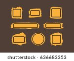 paint stains with frames. brush ...   Shutterstock .eps vector #636683353
