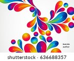 colorful abstract background... | Shutterstock .eps vector #636688357
