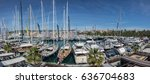 Small photo of Valencia, Palma de Mallorca - May 2, 2017: XXXIV Edition of the International Boat Show in Palma. Top view of many sailboats and luxury yachts exhibited at the fair. Balearic Islands, Mediterranean