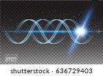 vector magic glowing spark... | Shutterstock .eps vector #636729403