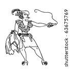 gun moll   retro clipart... | Shutterstock .eps vector #63675769