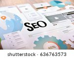 seo concept for website and...