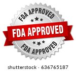 fda approved round isolated... | Shutterstock .eps vector #636765187