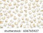popcorn on white background....   Shutterstock . vector #636765427